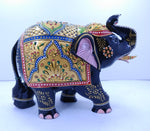 Wooden Elephant Embose Painted