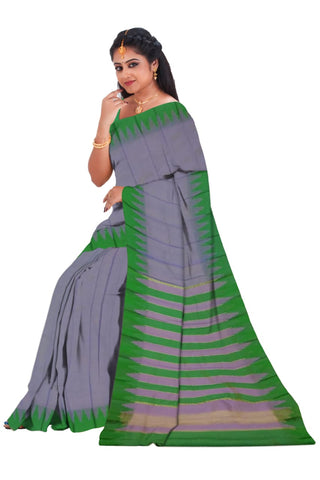 Gadwal fancy temple border saree