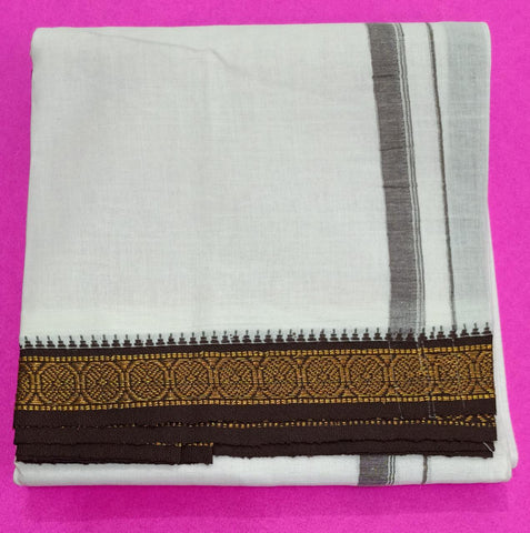 Handloom Cotton White Lungi