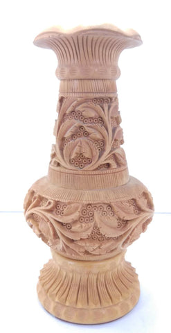 Wooden Flower Vase Carving