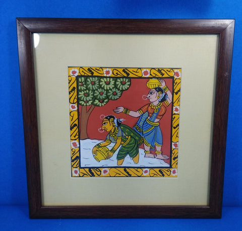 Cheriyal Scroll Painting In frame
