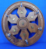 Saharanpur Wood Key Hanger Wheel Shape