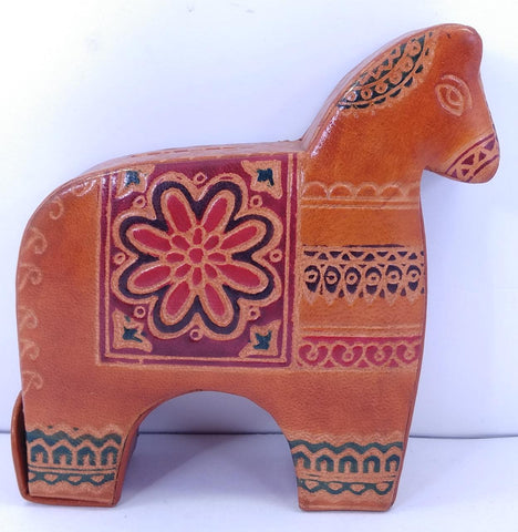 Leather Kiddybank Horse Design