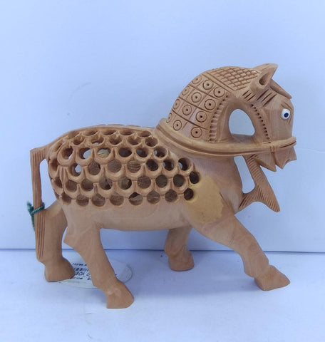 Wooden Horse Carving U/C