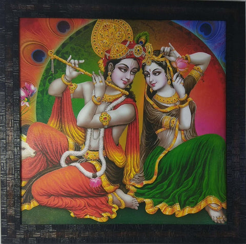 Wall Decors Radha Krishna Mat Finish