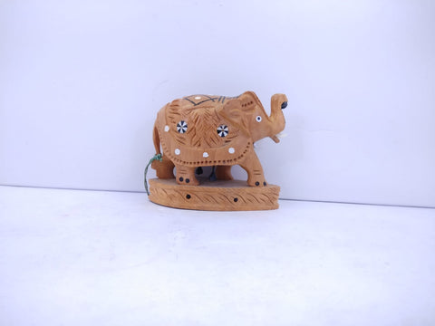 Wooden Elephant Inlay