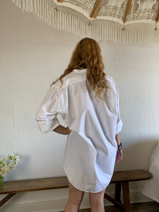 Vintage Oversized White Soft Cotton Shirt