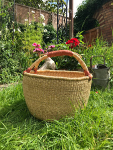 Bolgatanga Basket of Joy, natural woven, large size