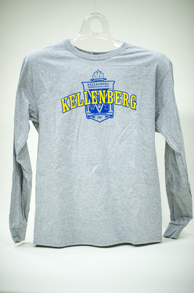 Gray Long Sleeve T Shirt w/ School Seal