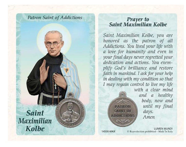 Healing Saints Prayer Card with Medal
