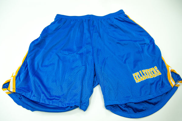 Blue Shorts with Gold Stripe