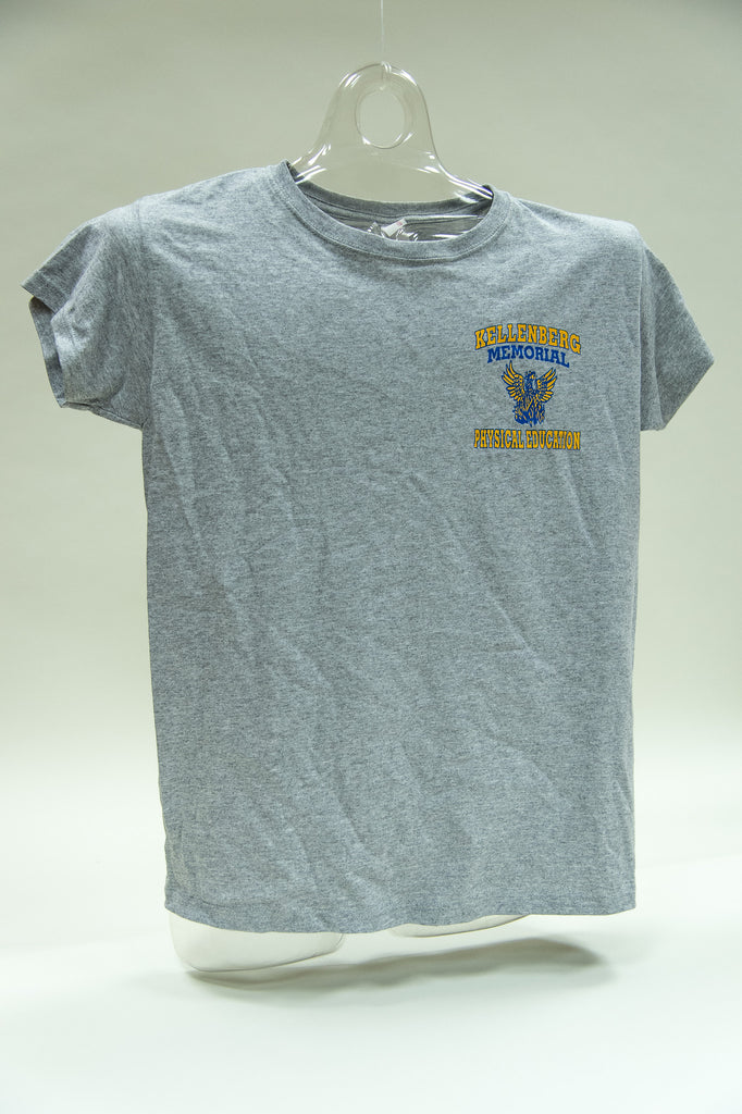 Girls Gray Gym Tee