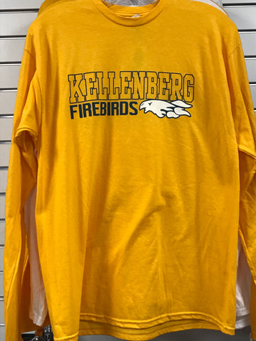 ES Sports Gold Long Sleeve Tee