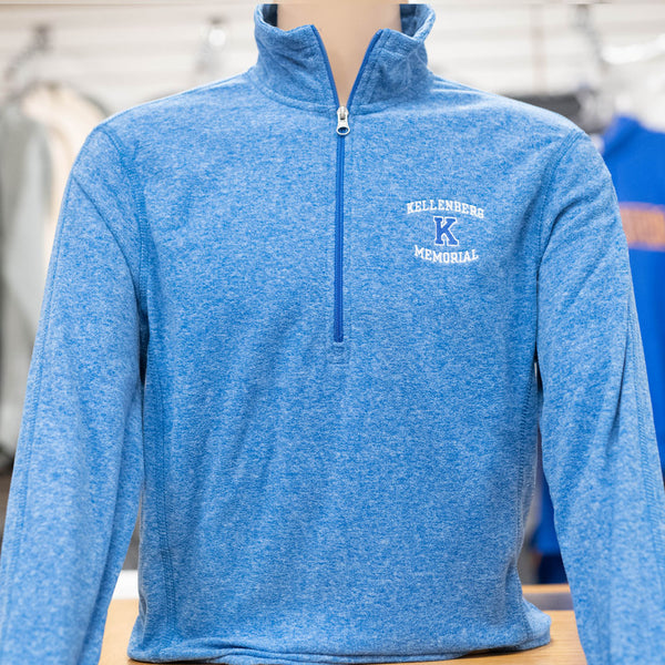 ES Sports Microfiber Fleece 1/4 Zip - Blue Heather