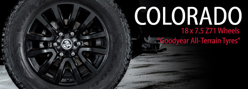 18 x 7.5 Colorado Z71 Style Wheel (Black) with All-Terrain Tyres