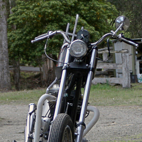 Custom Triumph Chopper Motorcycle with Moto Handlebars