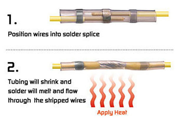 Extending Motorcycle Handlebar Wires with Heat Shrink Solder Tubes