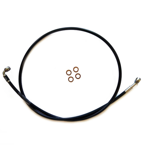 "Extended Brake Line without non-ABS Harley Davidson Softail Dyna Big Twin Fatboy Breakout to Suit Ape Hangers 14"" 16"""
