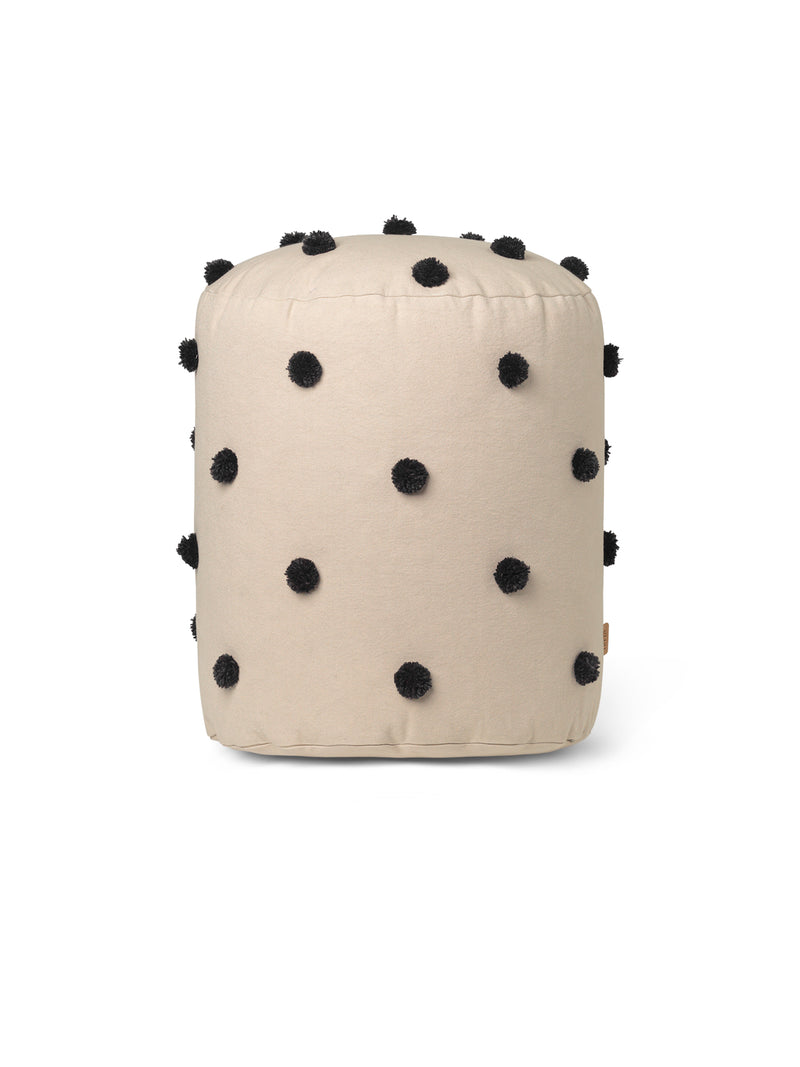Dot Tufted Pouf - Sand Black