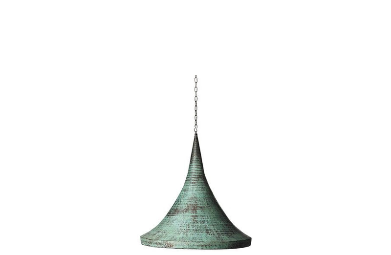 Green Copper Conical Lamp