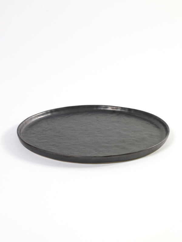 Stoneware Black Pure Plate - medium