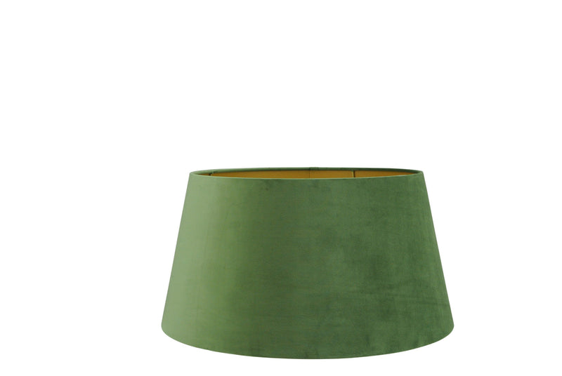 Large Handmade Velvet Lampshade with Gold Lining - Racing Green, Olive Green, or Dark Brown