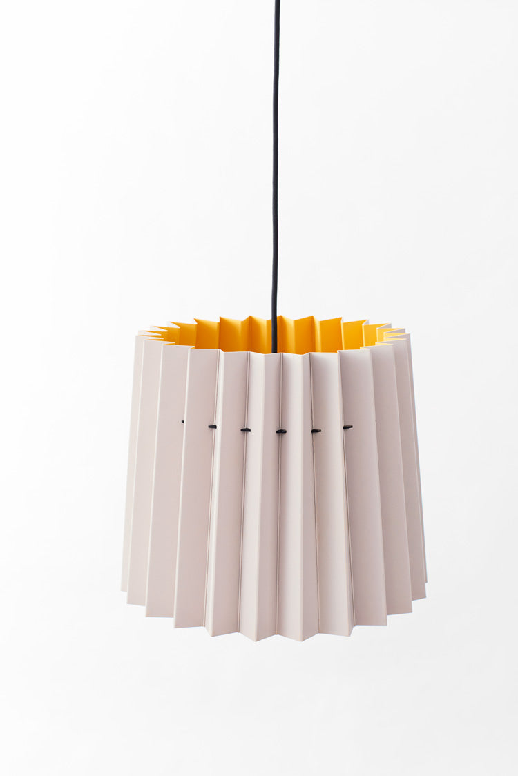 Colourplan Twin Tone Lampshade - Pale Grey & Citrine
