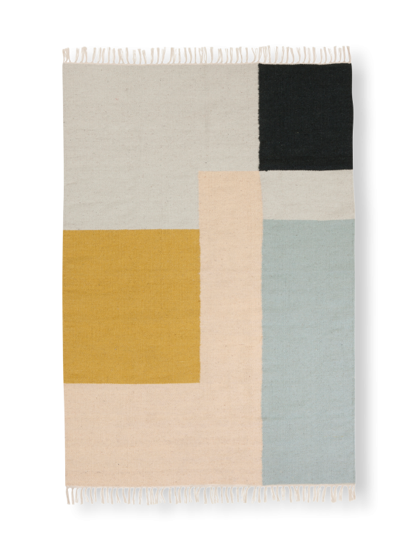 Kelim Rug in Squares Pattern - Medium & Large