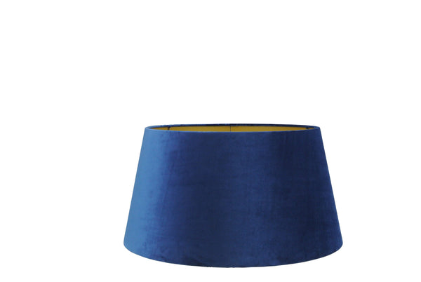 Large Handmade Velvet Lampshade with Gold Lining - Dark Blue, Ocean Blue or Black