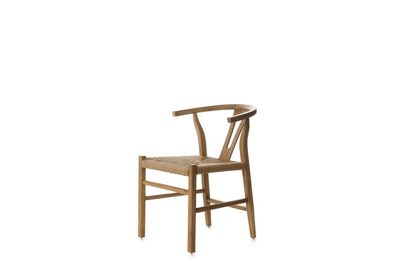 Natural Teak & Rope Dining Chair - Nature