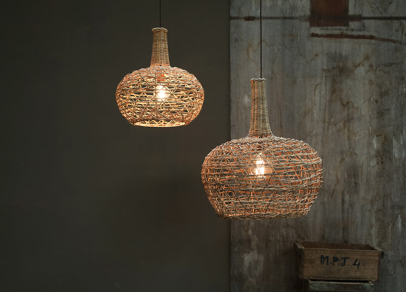 Small Conical Rattan Lampshade