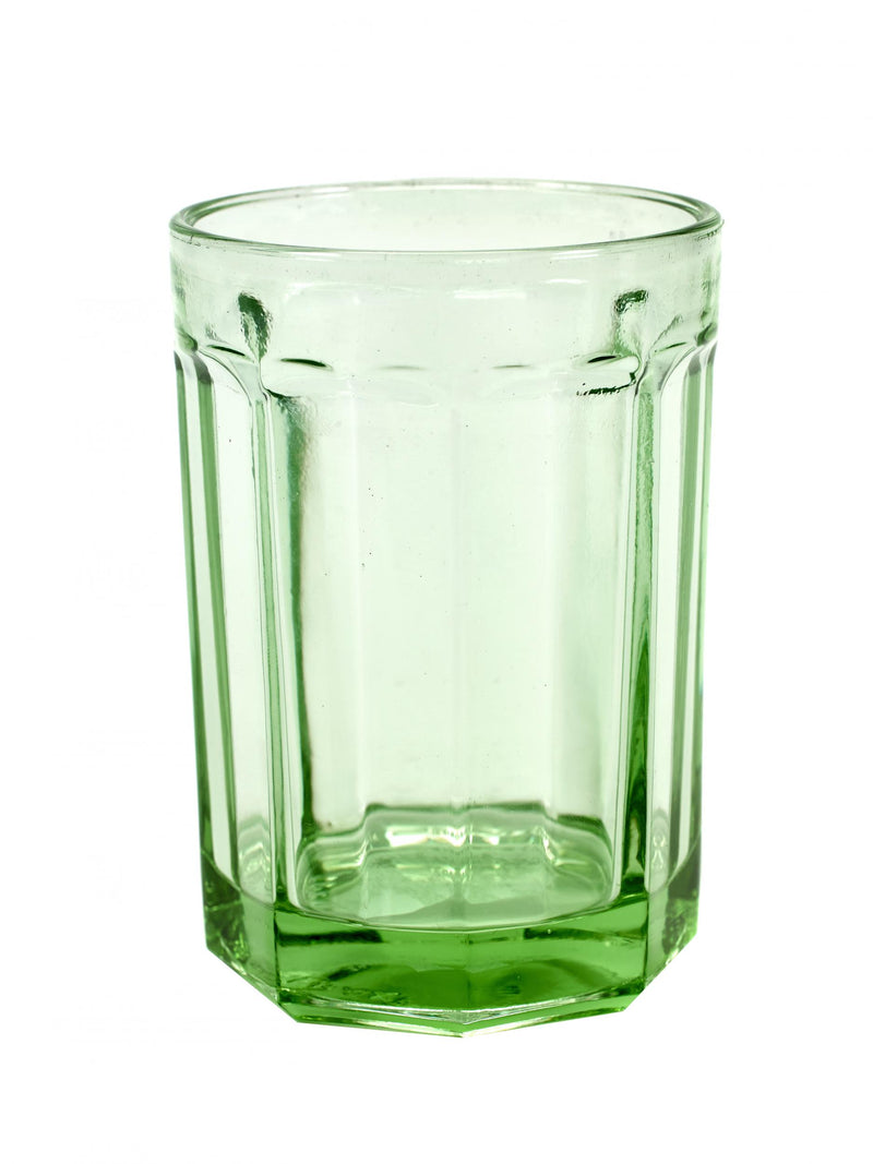 Tumbler Glass by Fish - Transparent Green