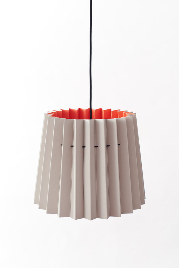 Colourplan Twin Tone Lampshade - Real Grey & Coral