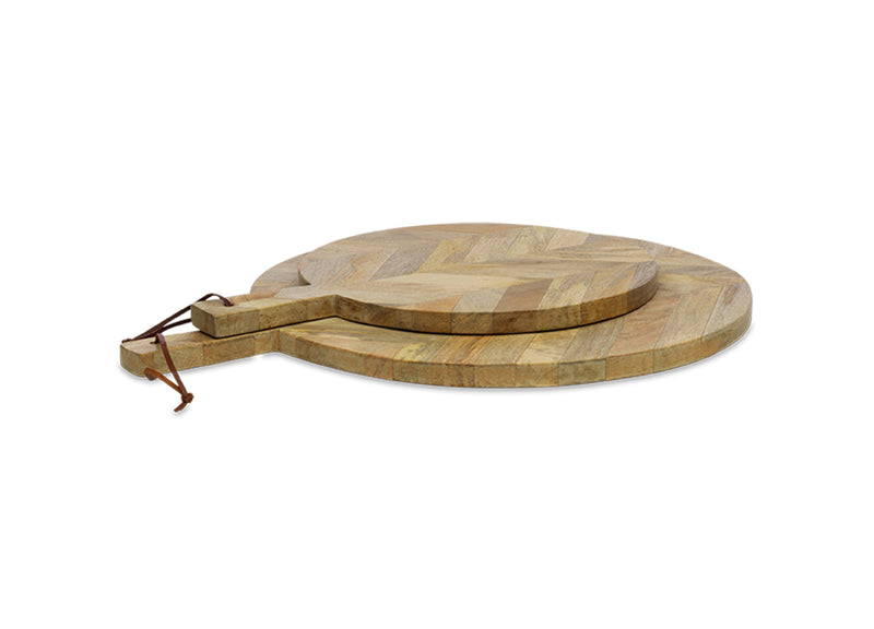 Herringbone Mango Wood Pizza Board - Various Sizes