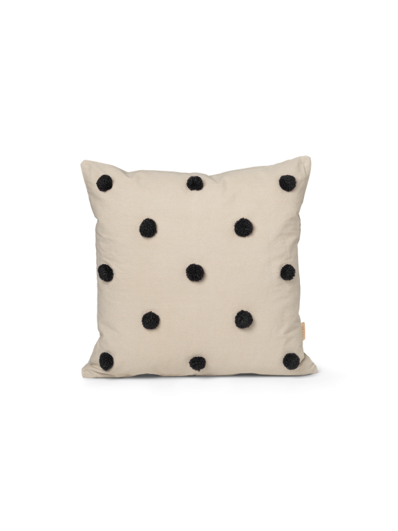 Dot Tufted Cushion in Black Spot