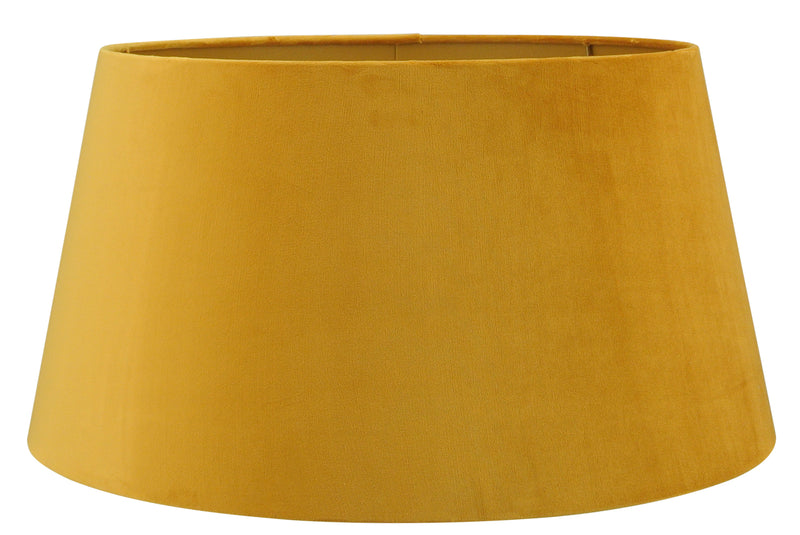 Large Handmade Velvet Lampshade with Gold Lining - Taupe, Ochre or Mustard