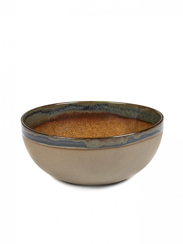 Stoneware Rusty Brown Bowl - medium