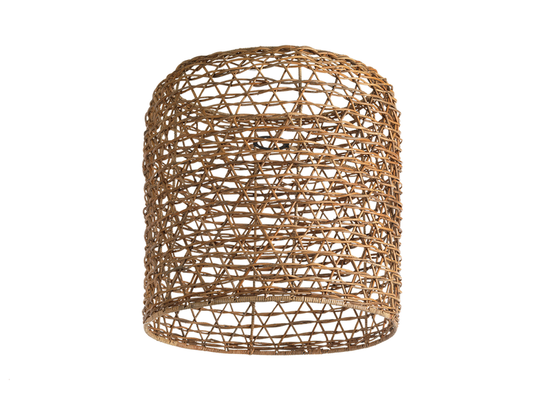 Large Cylinder Rattan Lampshade