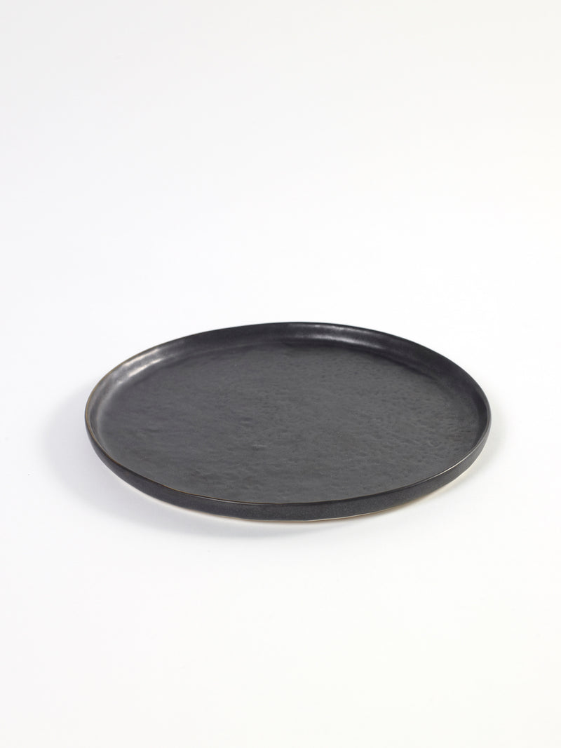 Stoneware Black Pure Plate - Large