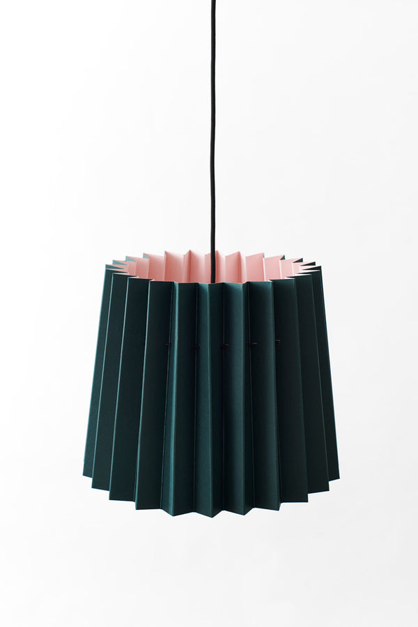 Colourplan Twin Tone Lampshade - Racing Green & Candy Pink