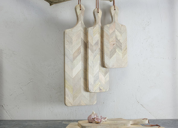 Herringbone Mango Wood Chopping Board - Various Sizes