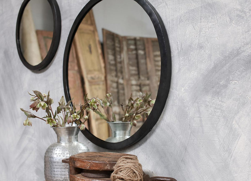Round Hand-Forged Iron Mirror