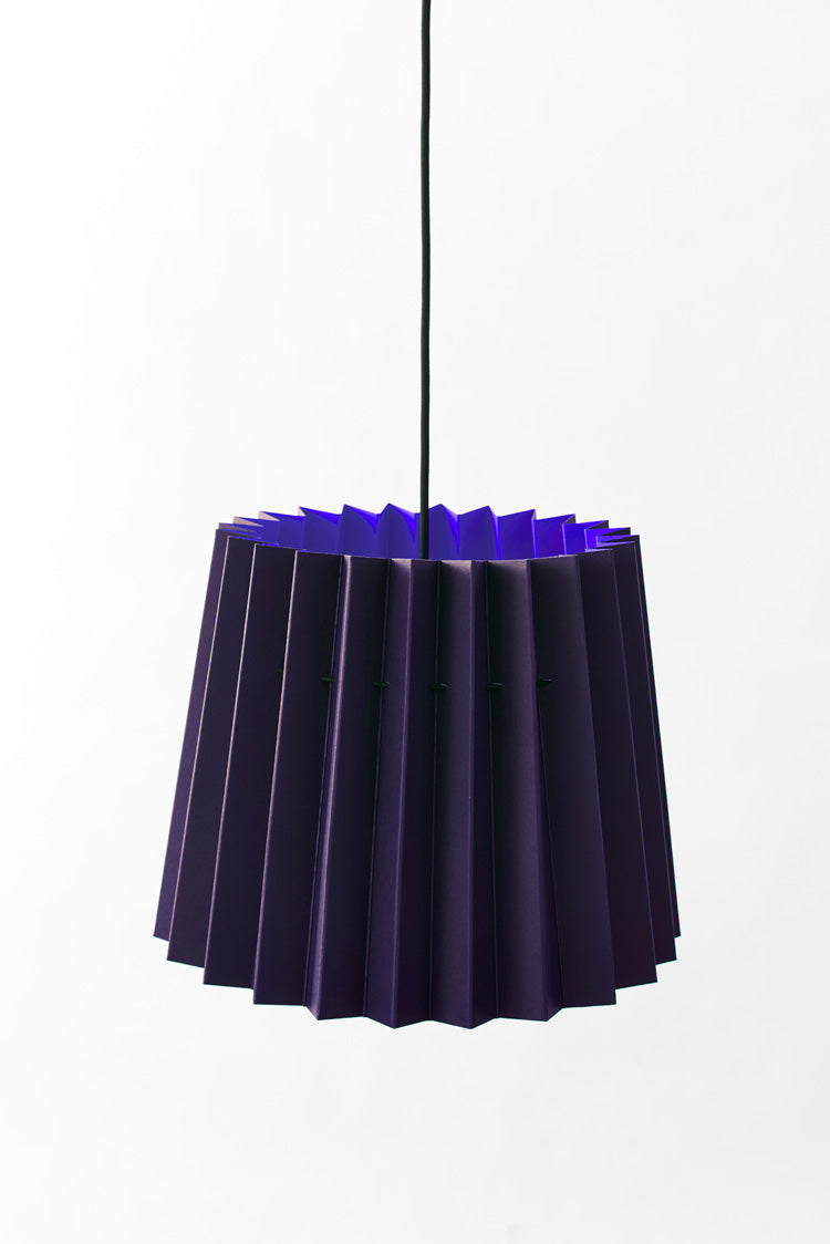 Colourplan Twin Tone Lampshade - Amethyst & Royal Blue