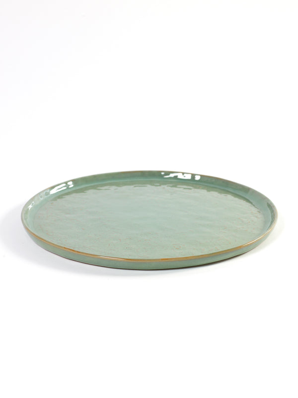 Stoneware Light Green Pure Plate - medium