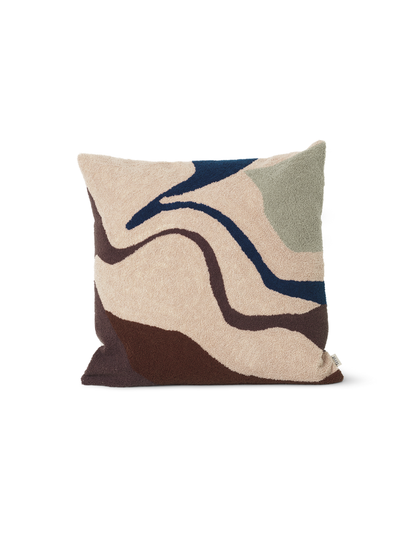 Vista Cushion - Off-White, Dark Blue, or Beige