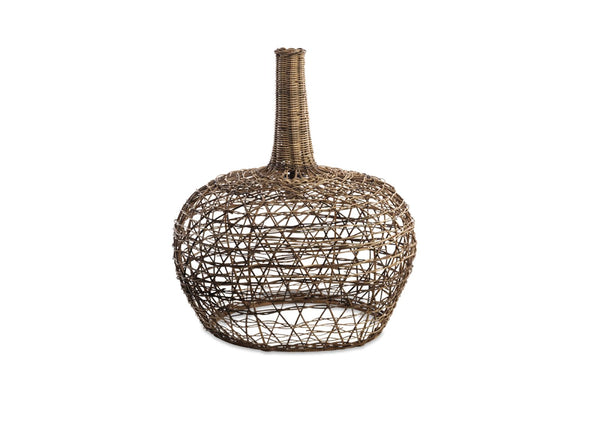 Large Conical Rattan Lampshade