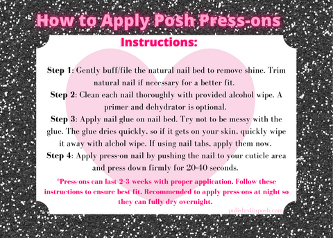 How to apply Posh luxury press-on nails