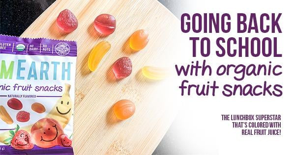 Going back to school with organic fruit snacks