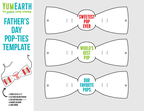 father's day bow tie craft template