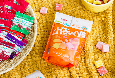 yumearth organic chewy candy and other snacks